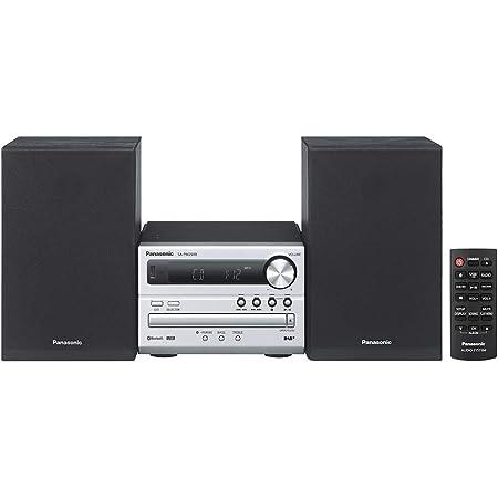Panasonic SC-PM250EC-S Micro-chaîne (Hi-FI, Bluetooth, équipement Audio pour Votre Maison, CD, Bluetooth, USB, MP3, Radio FM, 20 W (RMS), Design Compact, égaliseur) Argenté