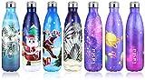 Grsta Botella Agua, 500ml Botella Agua Acero Inoxidable sin BPA Pared Completa...