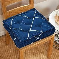 COZY FURNISH Square Floor Pillow Tufted Cushion Thick Chair Pads  Chair Cushion   Back Support Cushion   Seat Cushion 16...