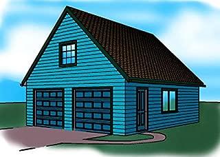 Cad Northwest Residential Garage Blueprint - Style A - 24' x 30' Garage Plan