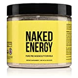 Naked Energy – All Natural Pre Workout Powder for Men and Women, Vegan Friendly, Unflavored, No...