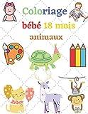 Coloriage bébé animaux 18 mois: Le livre de coloriage favorise la créativité, la concentration, l'idée cadeau pour les esprits créatifs, pour les ... 50 animaux à colorier pour les enfants