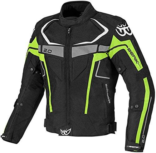 Berik Faith wasserdichte Motorrad Textiljacke 50 Schwarz/Gelb