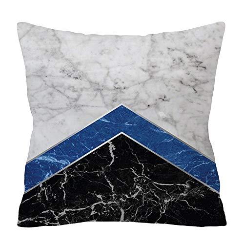 Wifehelper Vierkante zachte modieuze kussensloop abstracte geometrische print Marmer Texur Home Decor kussensloop