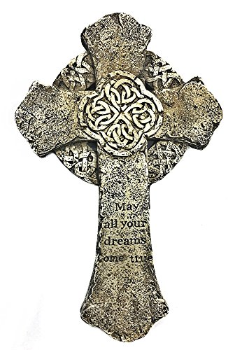 Bellaa 22212 Celtic Cross Irish Decor Art for Home Entry Kitchen Prayer Room Trinity Knot Wall Hanging 9 Inch Catholics