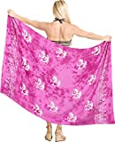La Leela Hand malen Delfine und Bikini 78x43 Zoll rosa glatt Rayon vertuschen