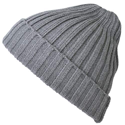 CHARM ニット帽 帽子 [ フリーサイズ/ダークグレー ] コットン ストレッチ リブ ビーニー ワッチ (コットン...