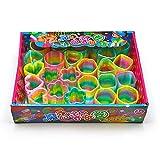 ZoneYan Rainbow Spring, Molla Arcobaleno Giocattolo, Rainbow Magic Spring, Slinky Molla, Mini Molle, Molle Magiche Bambini, per i Giocattoli Educativi di Puzzle, Regali, Giocattoli, Partito