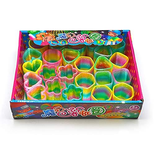 ZoneYan 24 Piezas Espiral Juguete, Rainbow Espiral de Juguete, Rainbow Spring, Resorte Espiral Juguete, Resortes Juguete, Rellenos de Bolsas de Fiesta, Favores de Fiesta