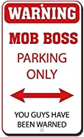 アルミ金属看板おかしい警告モブボス駐車場あなただけが警告されている情報ノベルティ壁アート垂直