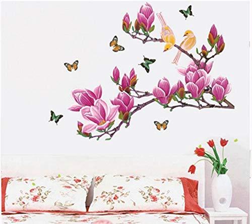 HALLOBO® Wandtattoo Wandaufkleber XXL Magnolie Blumen Magnolia Wandsticker Wall Sticker Wohnzimmer Schlafzimmer Wand Deko