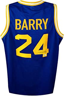 Rick Barry Autographed Golden State Warriors Custom Blue Basketball Jersey - BAS COA