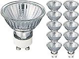 10 Ampoule Lampe Spot Halogène GU10 50W Blanc Chaud