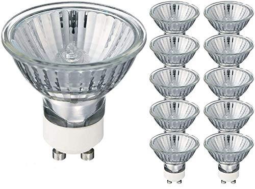 Bombillas halógenas GU10, 35 W, luz blanca cálida, paquete de 10 unidades