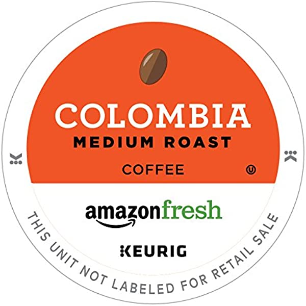 AmazonFresh 80 Ct K Cups Colombia Medium Roast Keurig K Cup Brewer Compatible