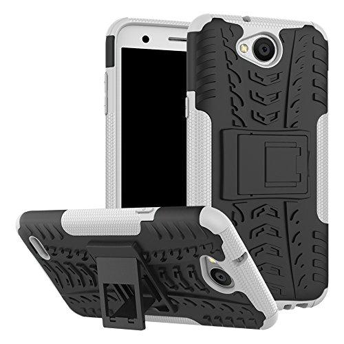 SCIMIN Capa para LG K10 Power, capa híbrida para LG K10, camada dupla à prova de choque, capa rígida híbrida resistente com suporte para LG K10 Power de 5,5 polegadas [não serve para LG K10]