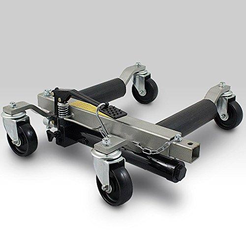 BITUXX PKW Rangierhilfe Rangierheber hydraulisch Wagenheber Auto Rangierroller Rangierheber belastbar bis 680 kg pro Rangierroller