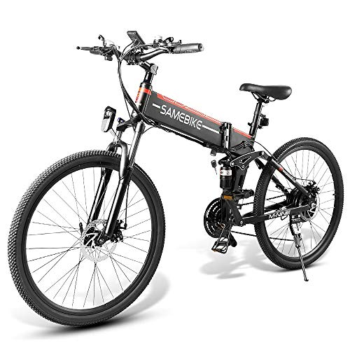 Elektrofahrrad 26 Zoll Zusammenklappbares Elektrofahrrad Power Assist Elektrofahrrad E-Bike Speichen Felgenroller Moped Bike 48V 500W Motor