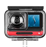 Waterproof Dive Case for Insta one R 360 4K Accessories Housing Case Diving Protective Housing Shell 45 Meter for Ins ta one R 360 Wide Angle 4K Camera with Bracket Accessories (for Insta One R 4K)
