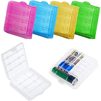DELSEN 6 Piezas Caja Batería Plástico para AA/AAA Baterías Almacenamiento: Amazon.es: Electrónica