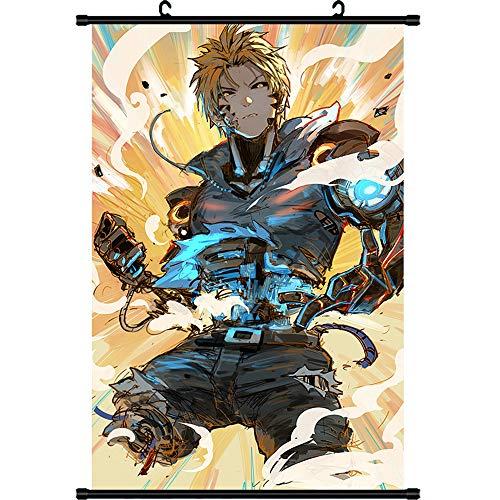 XCMLZ One Punch-Man Anime Manga Póster De Pared Sala De Desplazamiento Decoración del Hogar Arte De La Pared 40cm x 60cm