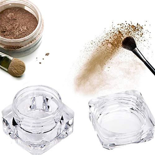 shuxuanltd Botes De Cristal con Tapa PequeñOs Tarros Cosmeticos Botes Plastico con...