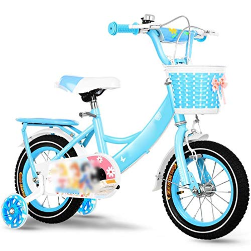 GTD-RISE Bicicleta niño Bicicleta Infantil Niños niños de la Bici, Muchachos de Las niñas Bike Training niños Pedal de la Bicicleta con el Respaldo del Asiento for 2-9 años En 12/14/16/18/20 Pulgadas