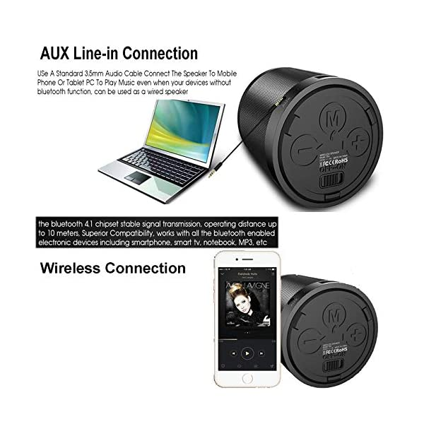 Bluetooth Speaker Wireless Portable Speaker Loud Stereo Speaker Mini Speaker Support TF Card Aux Input MP3 Player Compatible with Android iOS Mobile Phones Computer PC for Home Outdoor Party Travel 5