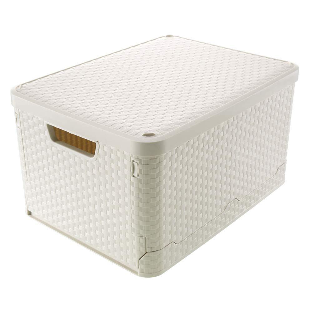 Caja de plástico sellada Plástico moderno simple Plegable Adecuado para el hogar Escuela Juguete Dormitorio del estudiante Ropa de oficina para niños Ropa interior Cajas de almacenamiento con tapas: Amazon.es: Hogar