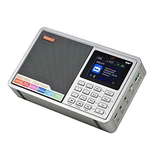 Docooler GTMEDIA D2 draagbare DAB-radio digitale FM-radio BT-luidspreker AUX-IN-TF-kaartsleuf MP3-speler-opnamefunctie hoofdtelefoonaansluiting op batterijen oplaadbare USB-oplaadbaar