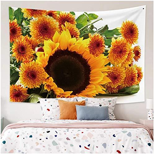 KBIASD Tapices de impresión de Girasoles Tapiz de poliéster Toalla de Playa Colgante de Pared Hogar para Sala de Estar Decoración de Dormitorio 150x130cm