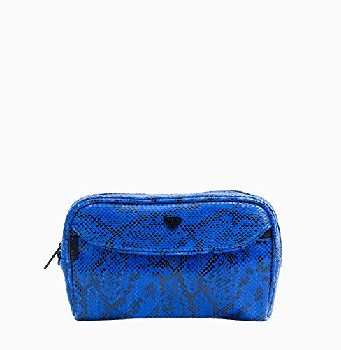 PurseN Clutch Makeup Travel Organizer Lipstick Beauty Case Blue Allure