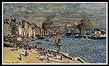 Pintar por Números Niños DIY Pintura óleo Pintura Niños Kit Manualidades Niños Pintar por Números Decoraciones para el Hogar - Claude Oscar Monet - Vista del antiguo puerto exterior de Le Havre