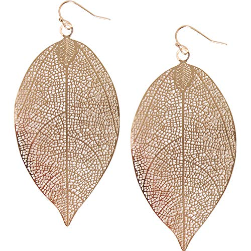 Humble Chic Filigree Leaf Earrings -...