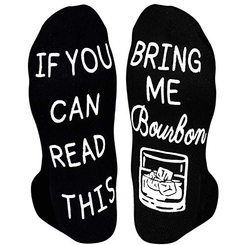 HAPPYPOP Unisex Bourbon Socks Bourbon Gifts for Men Women, If You Can Read This Bring Me Bourbon