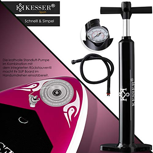 KESSER® SUP Board Set Pink 320x76x15cm - 6