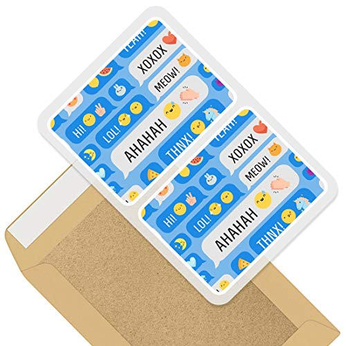 Rectangle Stickers (Set of 2) 10cm - ny Phone Text Emoji Symbols Kids Decals for Laptops,Tablets,Luggage,Scrap Booking,Fridges, 45107