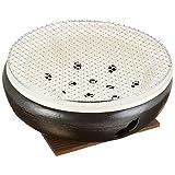 マルヨシ陶器 伊勢炭焼 水コンロ 10号 黒 M4604