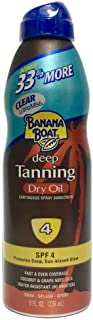 Banana Boat Deep Tanning Dry Oil With Coconut Oil, Spf 4, 8 Oz