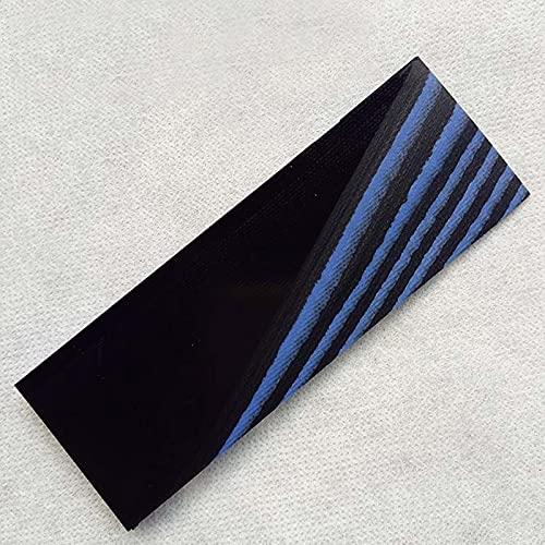 XIOFYA 2 Stücke DIY. Messergriff Material G10 Schaft Patch Space Board für DIY. Messer-Griff-Handwerk liefert (Farbe : Black blue120X40X6mm)