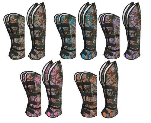 Showman Real Oak Print Shipping Boots! New Horse TACK! (Teal)
