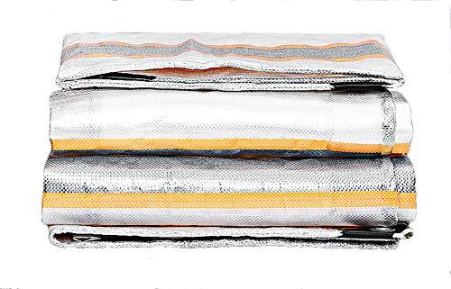 Tarpaulin-CZY dekzeil grijs heavy duty waterdicht Persenning premium kwaliteit afdekking van 220 gram vierkante meter zeil 4m*4m grijs