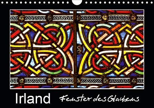 IRLAND - Fenster des Glaubens (Wandkalender 2021 DIN A4 quer)