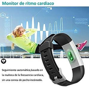 YAMAY Pulsera Actividad con Pulsómetro Mujer Hombre, Monitor de Actividad Deportiva, Ritmo Cardíaco, Impermeable IP67, Reloj Fitness, smartwatch con Podómetro