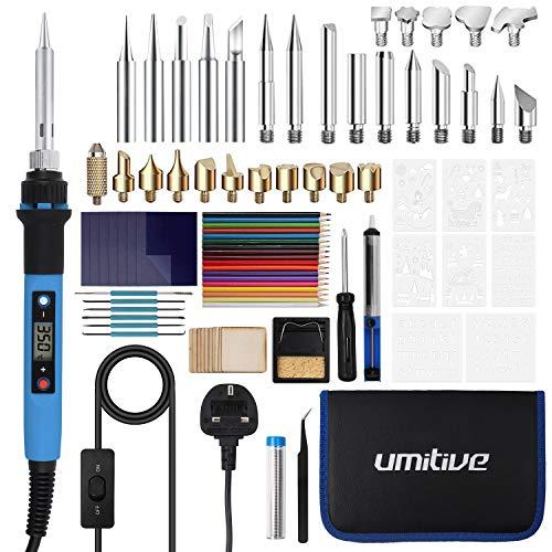 Umitive 90Pcs Pyrography Pen Kit, Wood Burning Kit with Digital LCD Display,...