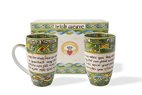 Royal Tara Irish Blessing Cup Set of Two with Matching Irish Gift Box Product Name, Capacity 400ml/14fl oz