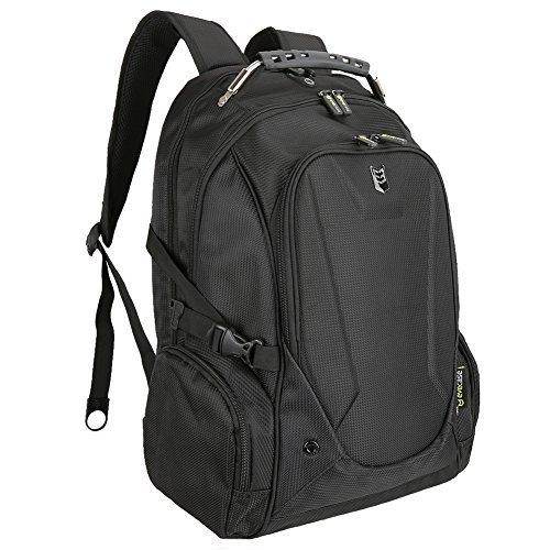 Zaino per Laptop Evecase Zaino per Scuola / Borsa da Viaggio / Zaino per Computer Portatile/ Backpack, Chromebook, Ultrabook, Macbook fino a 15.6pollici - Nero