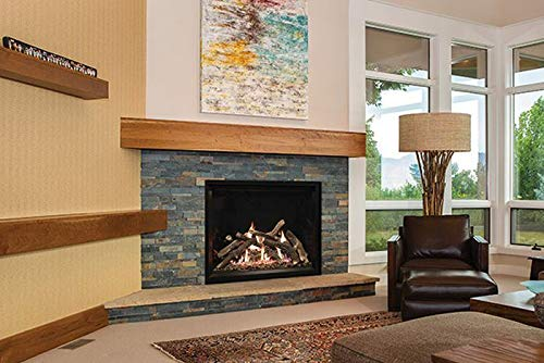 New Empire Comfort Systems Rushmore 40 DV IP NG Fireplace w/Charred Logs and OWS Liner