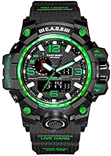 Digital Sports Watch LED Screen Large Face Military Watches for Men Water-Resistant Casual Luminous Stopwatch Alarm Simple...