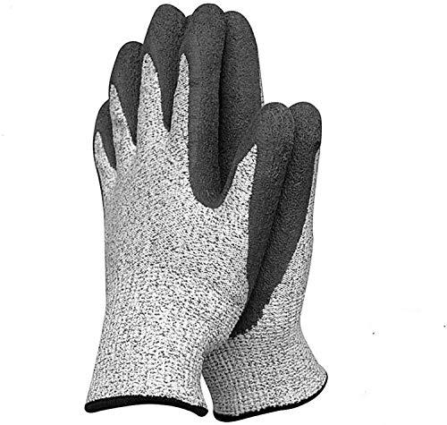 ZMYY 1 par de guantes de trabajo con revestimiento de látex guantes de jardinería, resistente al agua de la espina para mecánicos montaje embalaje jardinería